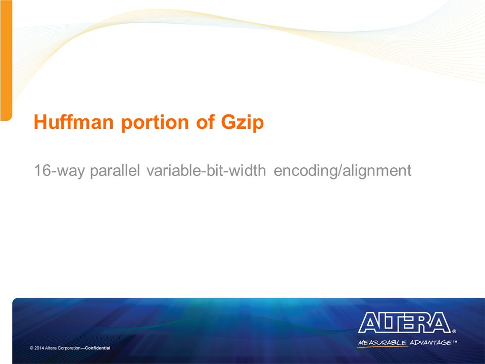 Huffman portion of Gzip