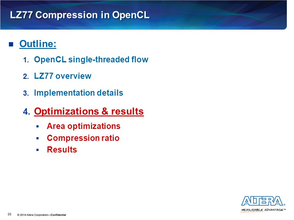 LZ77 Compression in OpenCL