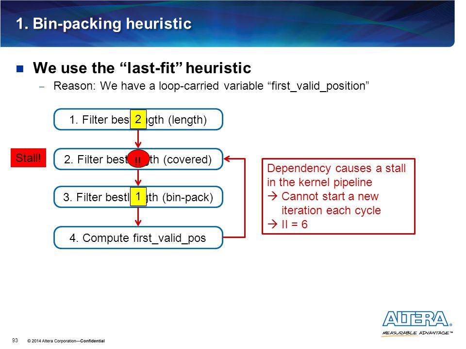 1. Bin-packing heuristic