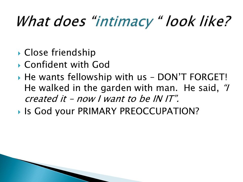 What does intimacy look like