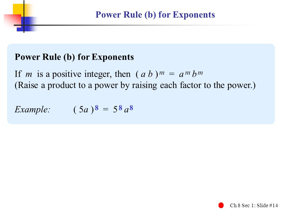 Power Rule (b) for Exponents