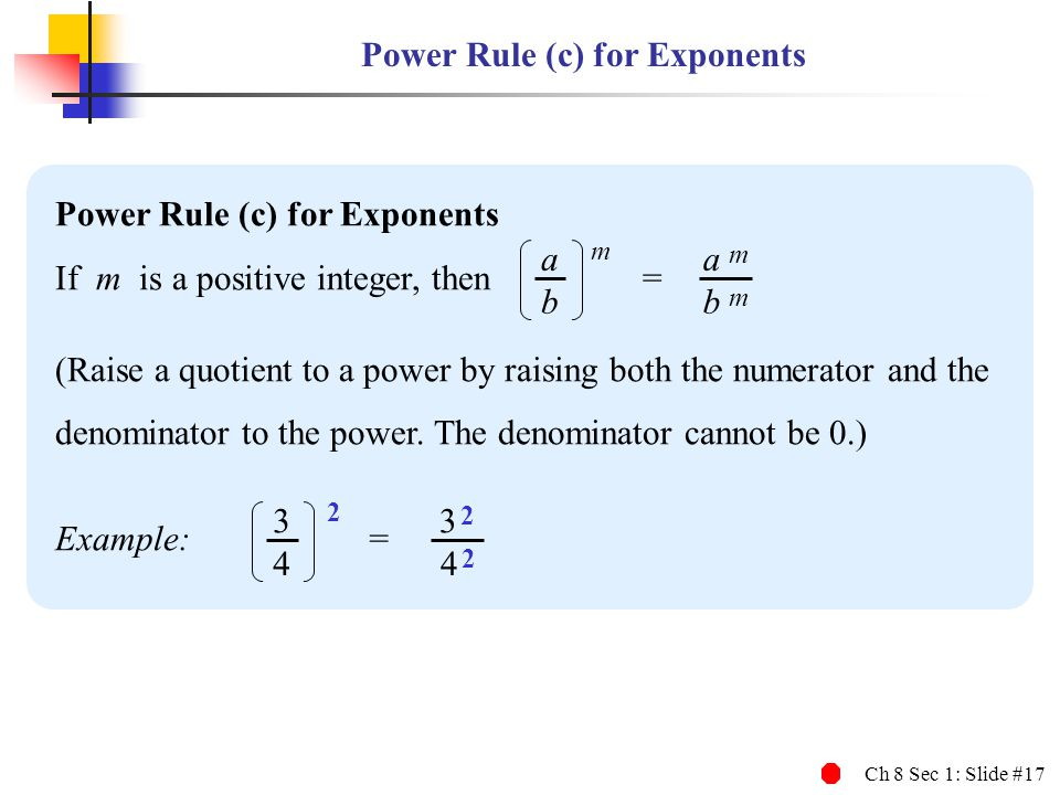 Power Rule (c) for Exponents