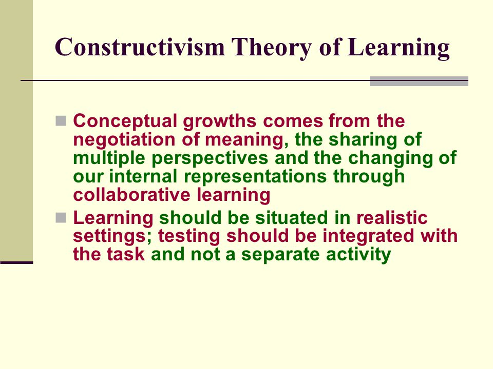Constructivism Theory of Learning