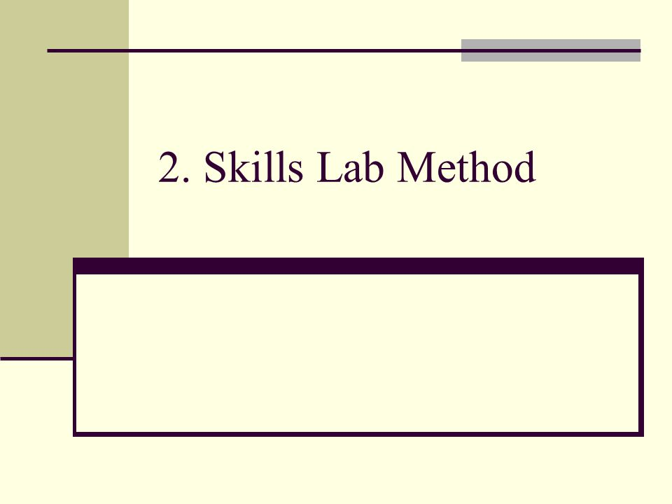 2. Skills Lab Method