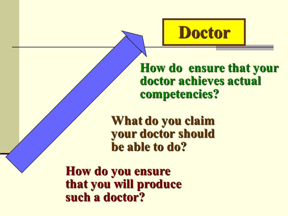Doctor How do ensure that your doctor achieves actual competencies