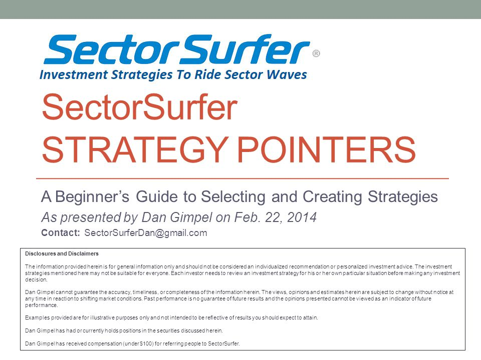 SectorSurfer Strategy Pointers