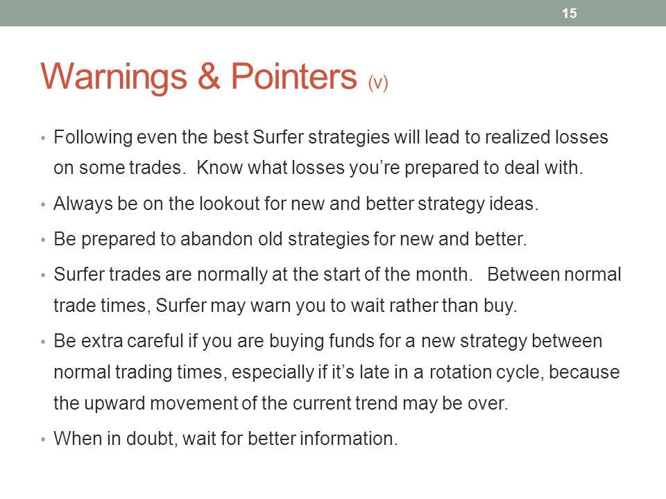 Warnings & Pointers (v)