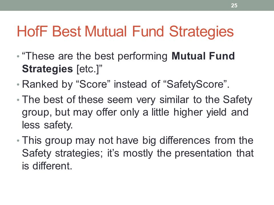 HofF Best Mutual Fund Strategies