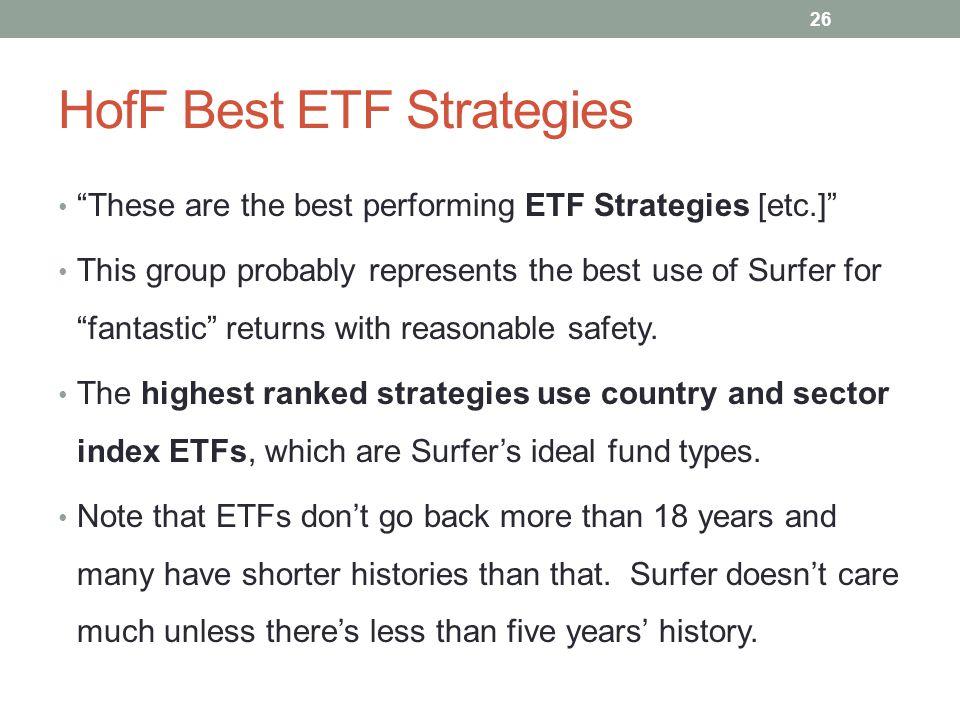 HofF Best ETF Strategies