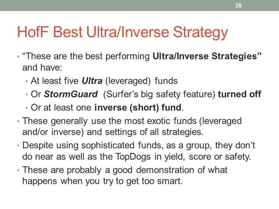 HofF Best Ultra/Inverse Strategy