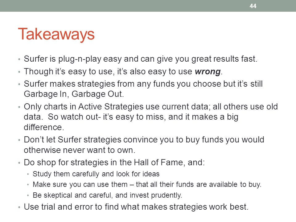 Takeaways Surfer is plug-n-play easy and can give you great results fast. Though it's easy to use, it's also easy to use wrong.