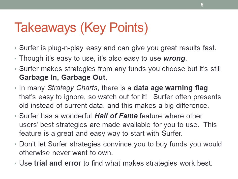 Takeaways (Key Points)