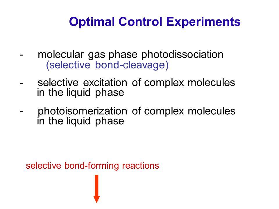 Optimal Control Experiments