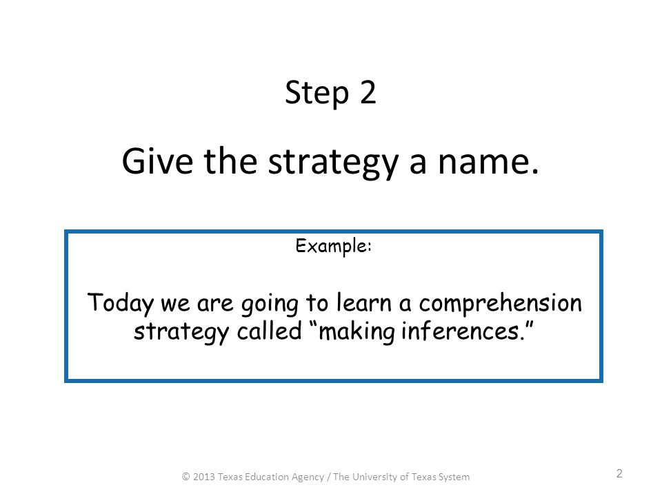 Give the strategy a name.