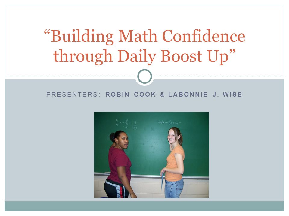 Building Math Confidence through Daily Boost Up
