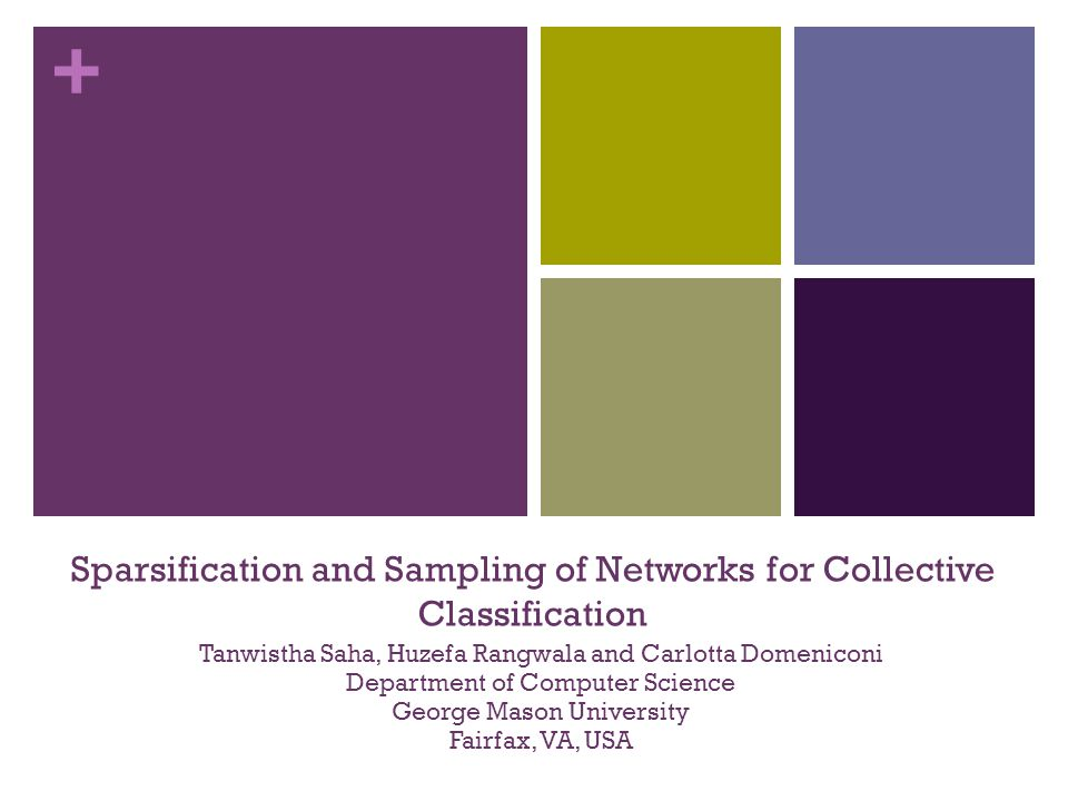 Sparsification and Sampling of Networks for Collective Classification