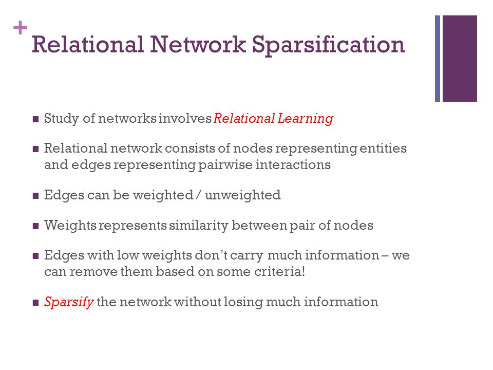 Relational Network Sparsification