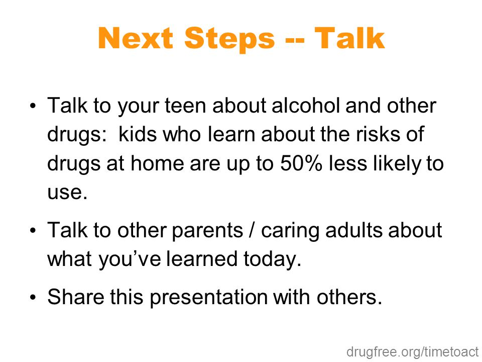 Next Steps -- Talk