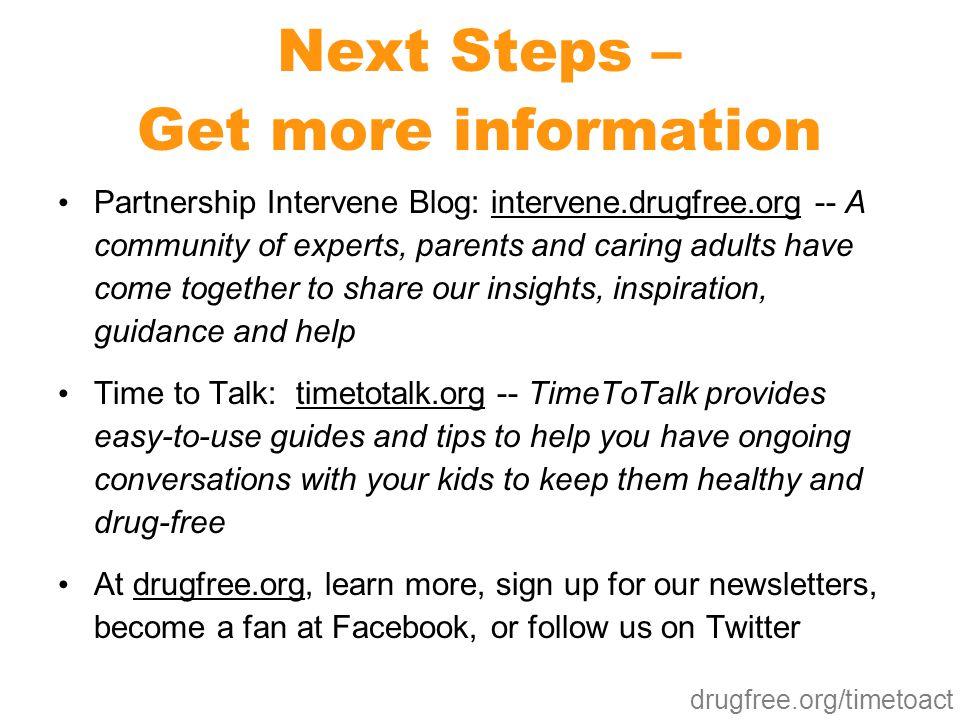 Next Steps – Get more information