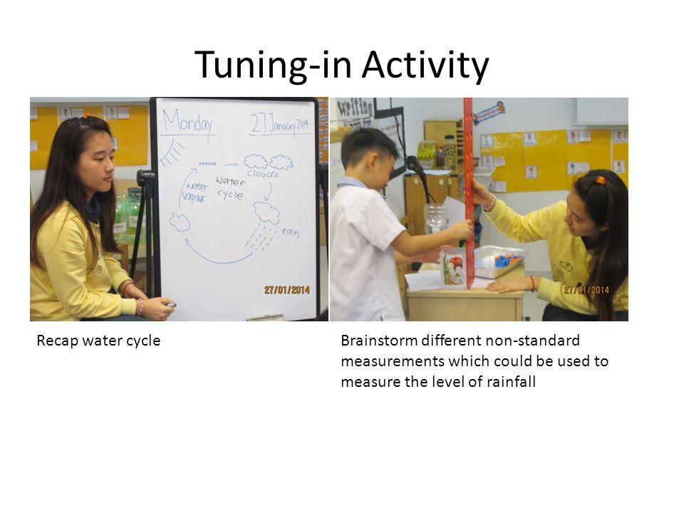Tuning-in Activity Recap water cycle
