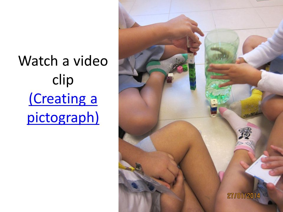 Watch a video clip (Creating a pictograph)