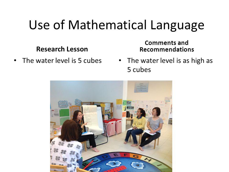 Use of Mathematical Language