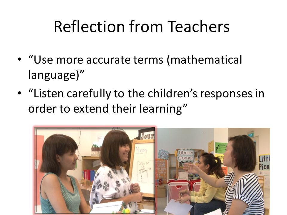 Reflection from Teachers