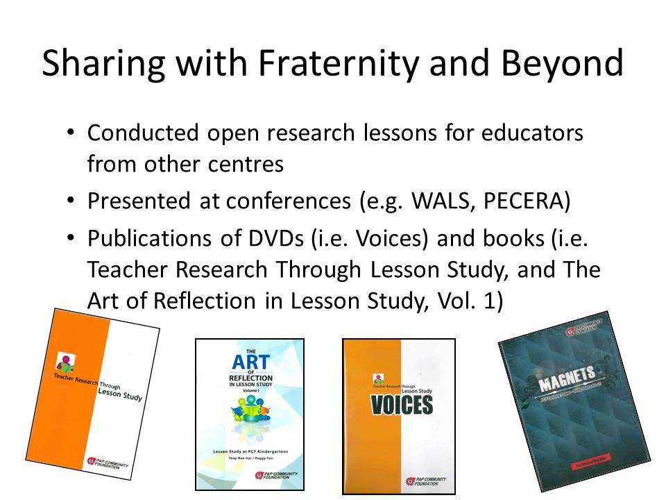 Sharing with Fraternity and Beyond