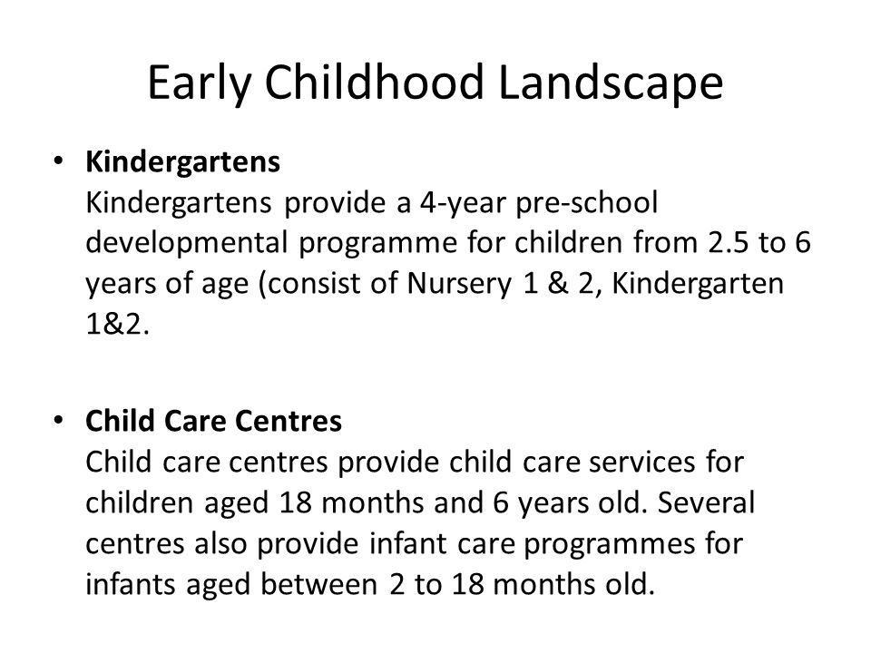Early Childhood Landscape