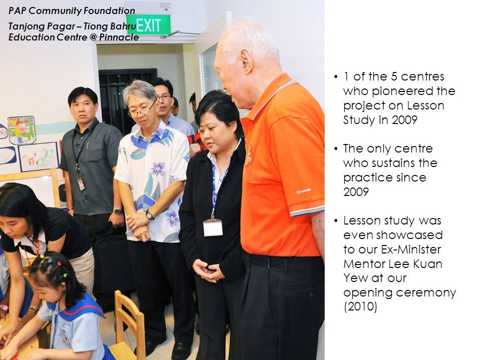 1 of the 5 centres who pioneered the project on Lesson Study in 2009