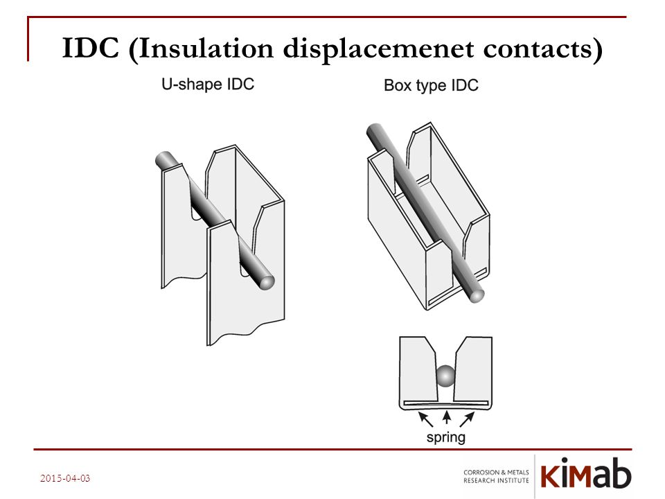 IDC (Insulation displacemenet contacts)