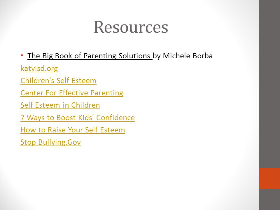 Resources The Big Book of Parenting Solutions by Michele Borba