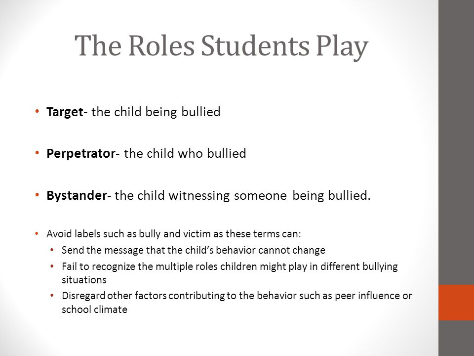 The Roles Students Play