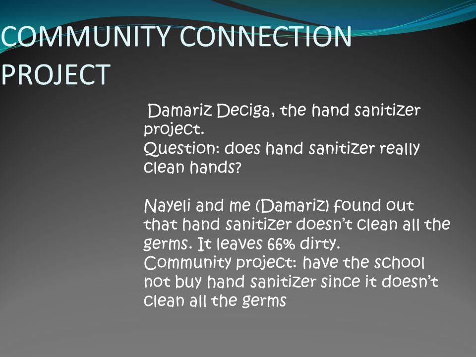 COMMUNITY CONNECTION PROJECT