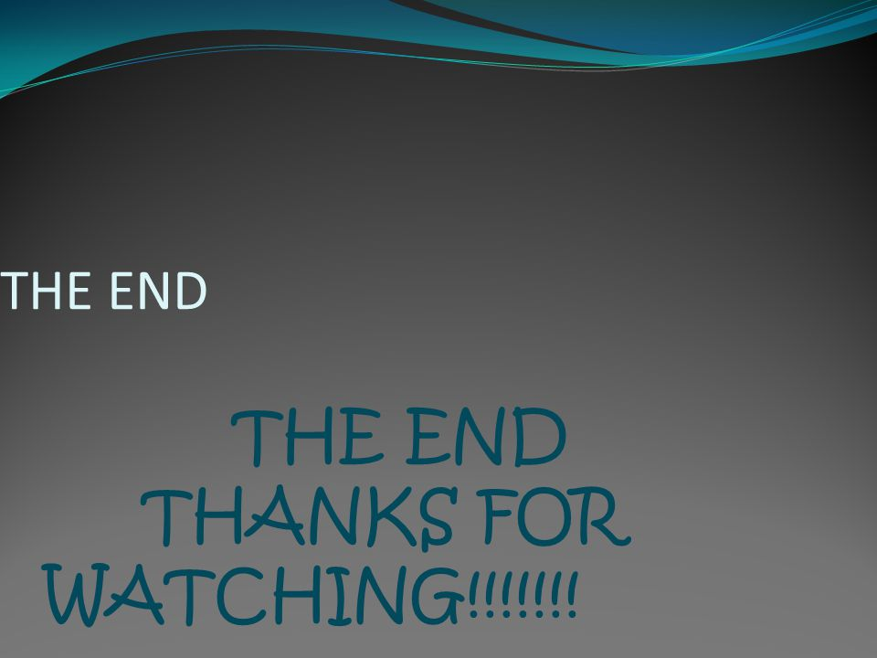 THE END THE END THANKS FOR WATCHING!!!!!!!