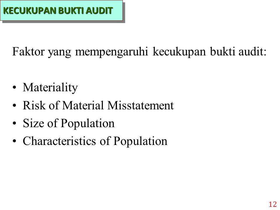 Faktor yang mempengaruhi kecukupan bukti audit: Materiality
