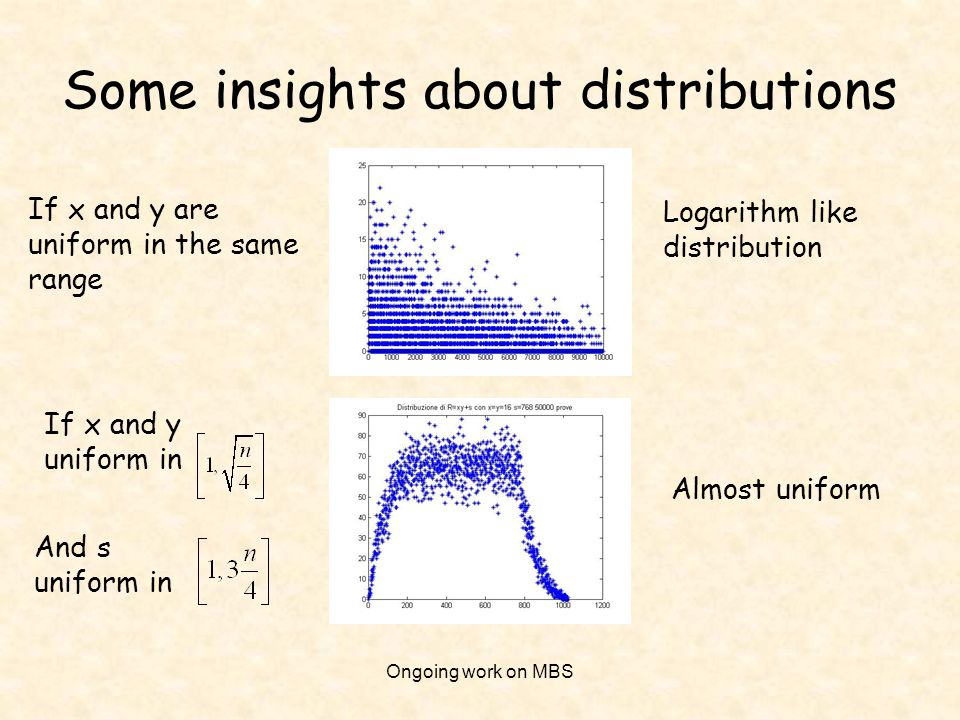 Some insights about distributions
