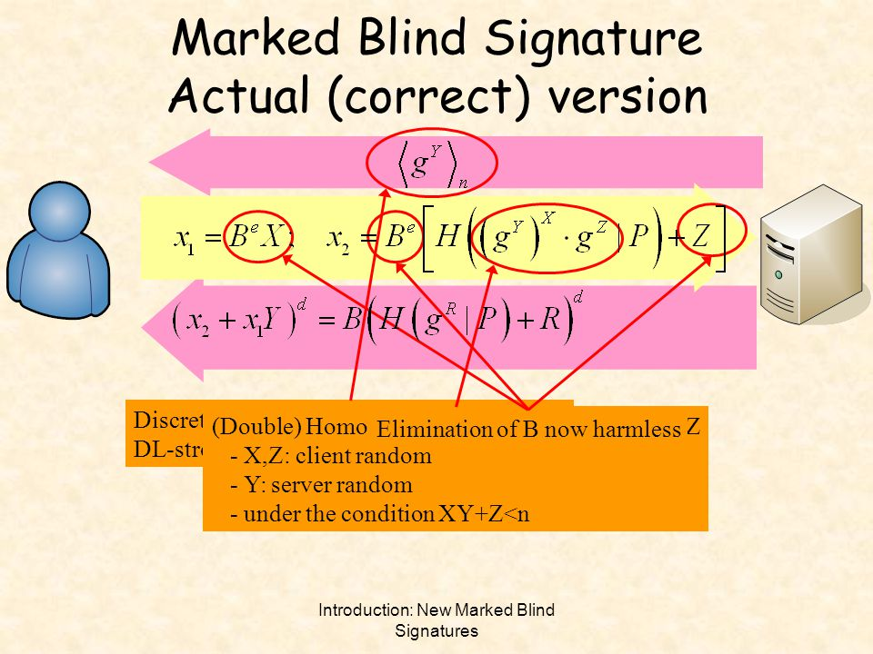 Marked Blind Signature Actual (correct) version