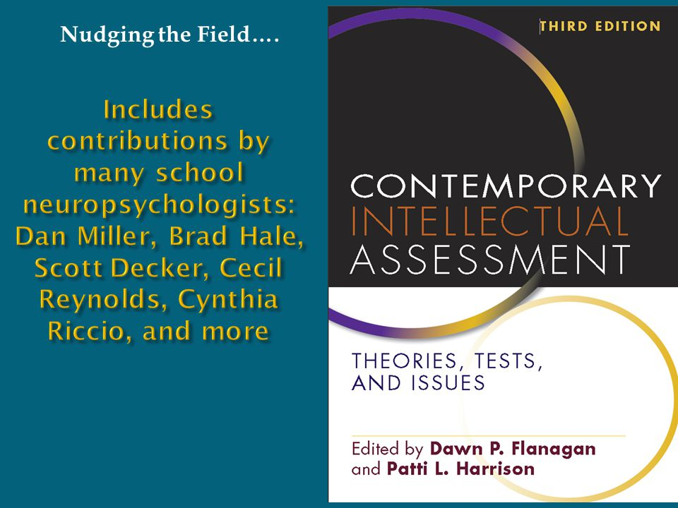 Includes contributions by many school neuropsychologists: Dan Miller, Brad Hale, Scott Decker, Cecil Reynolds, Cynthia Riccio, and more