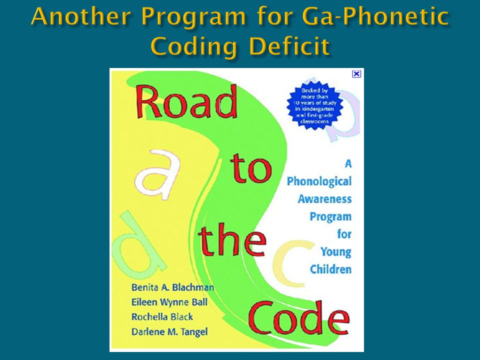 Another Program for Ga-Phonetic Coding Deficit