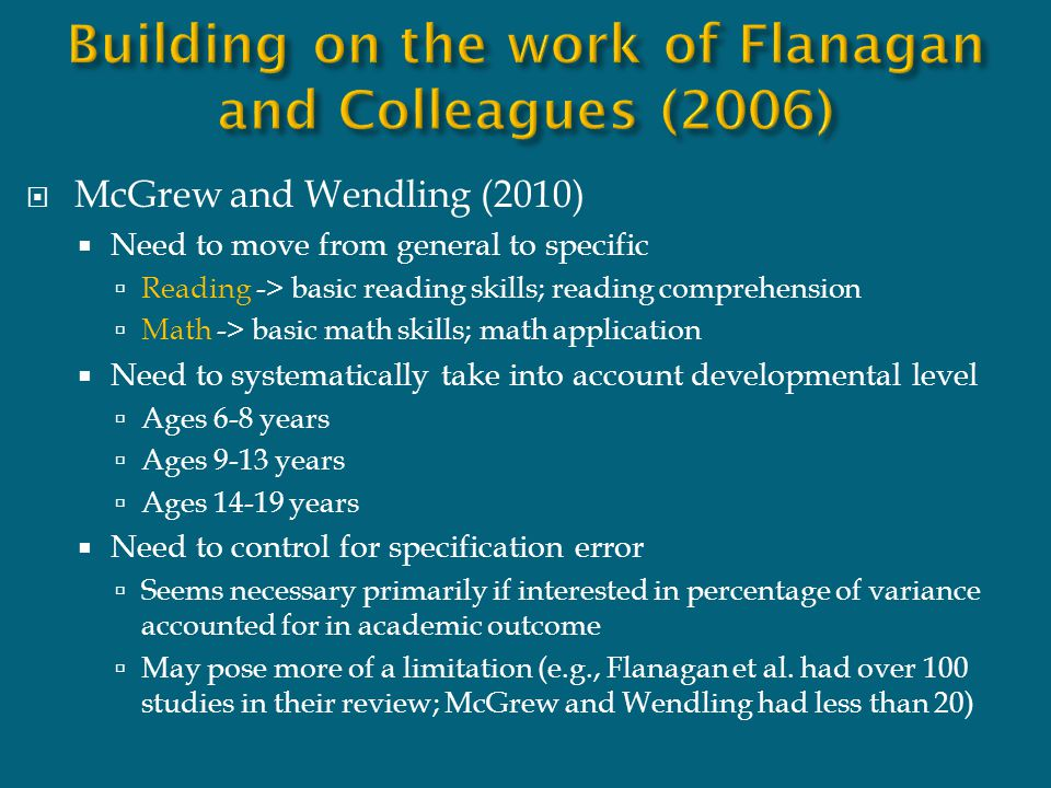 Building on the work of Flanagan and Colleagues (2006)