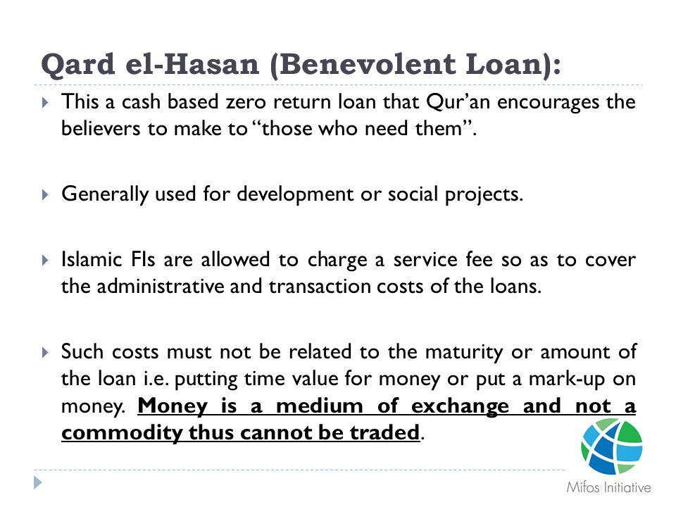 Qard el-Hasan (Benevolent Loan):