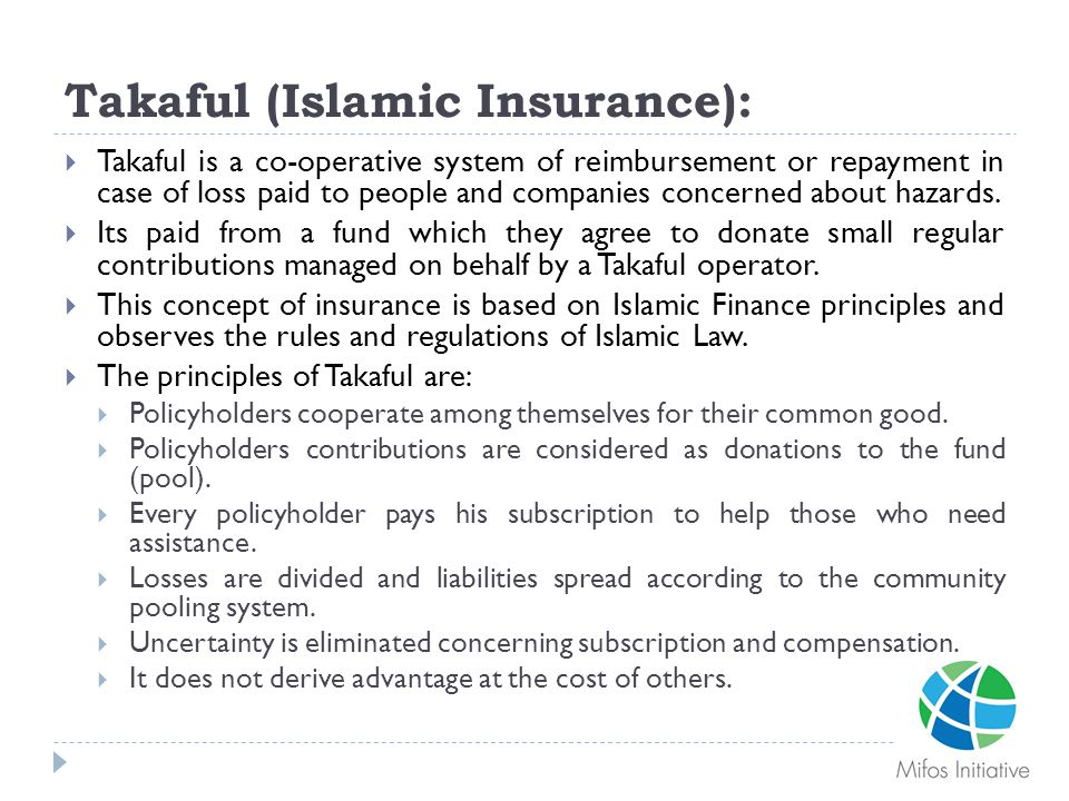 Takaful (Islamic Insurance):
