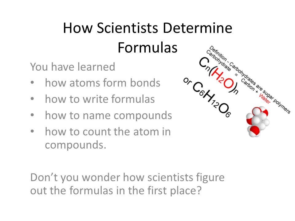 How Scientists Determine Formulas