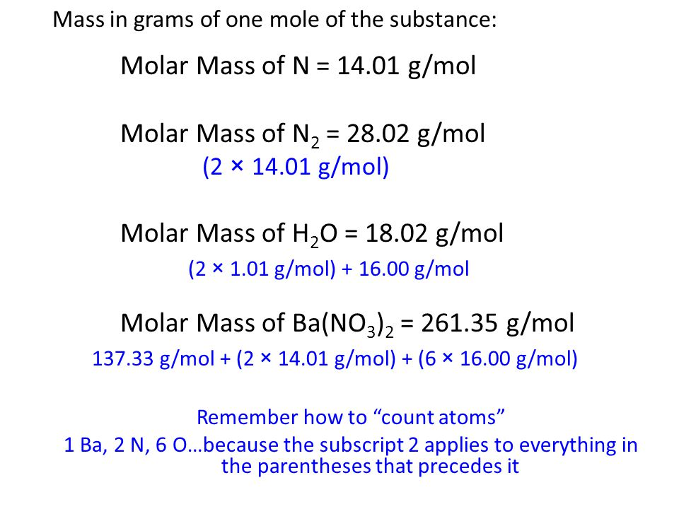 Remember how to count atoms