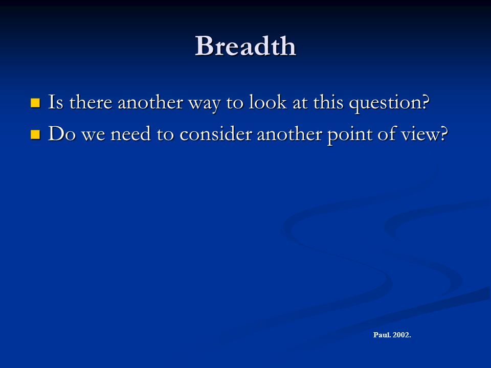 Breadth Is there another way to look at this question