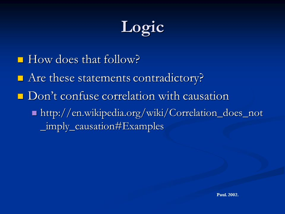 Logic How does that follow Are these statements contradictory