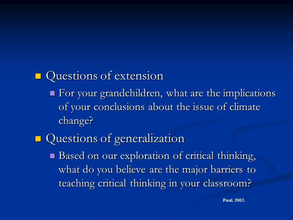 Questions of extension