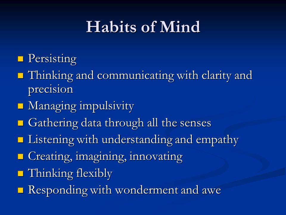 Habits of Mind Persisting