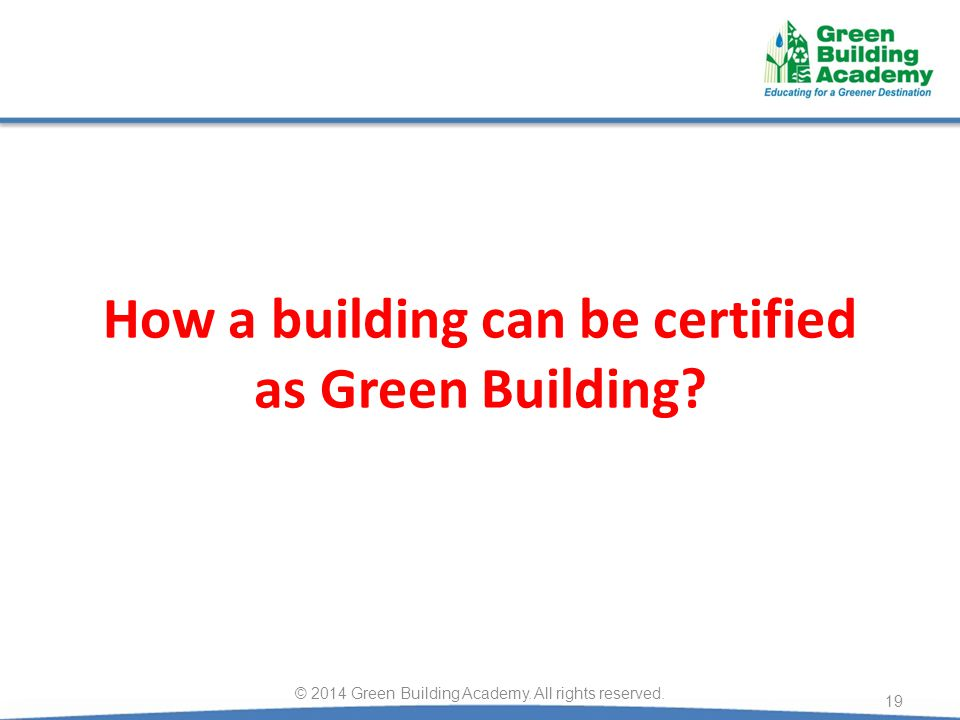 How a building can be certified as Green Building